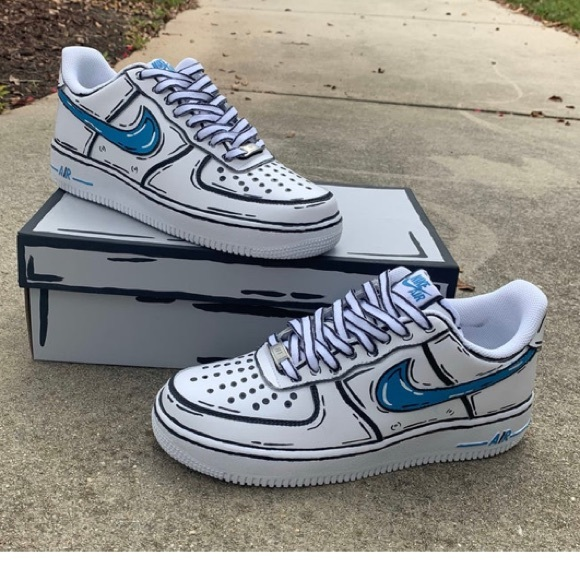 Nike Shoes Custom Cartoon Air Force 1 Poshmark